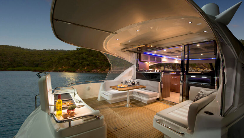 Riviera 6000 Sport Luxury Yacht Interior Designs