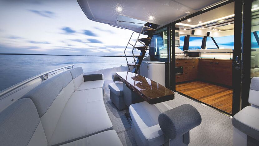 Tiara F53 Series Luxury Yacht Interior Designs